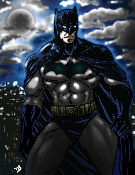 Batman - Original Comic/Cartoon Fan Art & Oil Paintings
