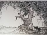 Tree drawing tone & texture