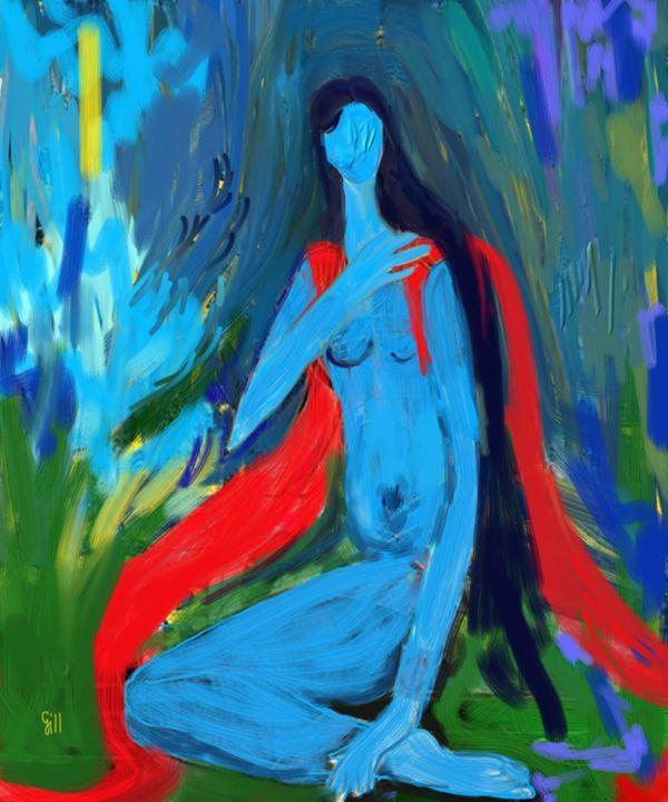 Blue Woman - Shubnum Gill's Art