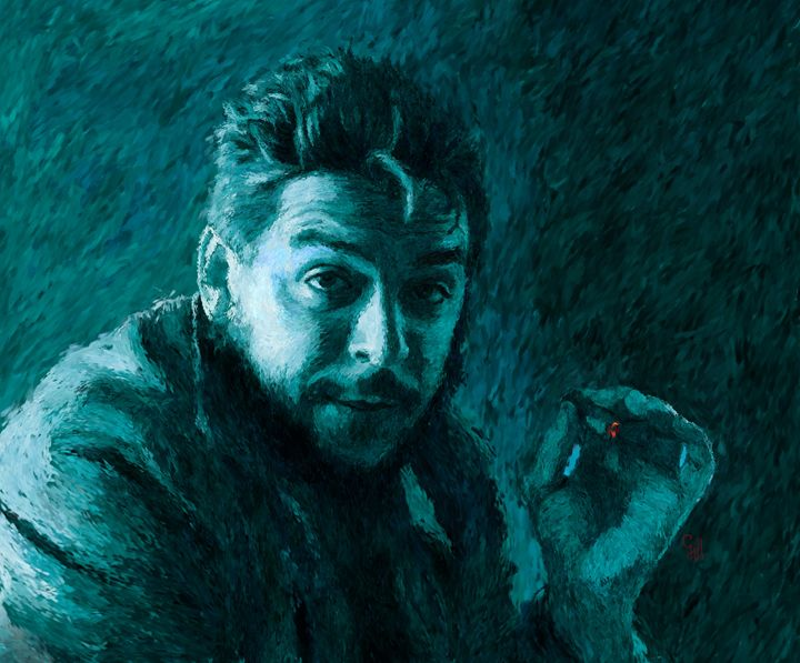Che Guevara Blue-Green - Shubnum Gill's Art