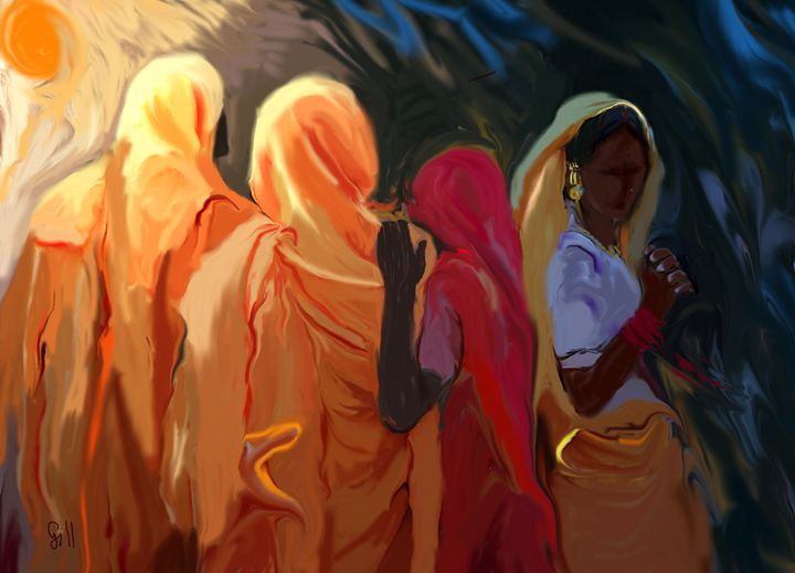 Four Women - Shubnum Gill's Art