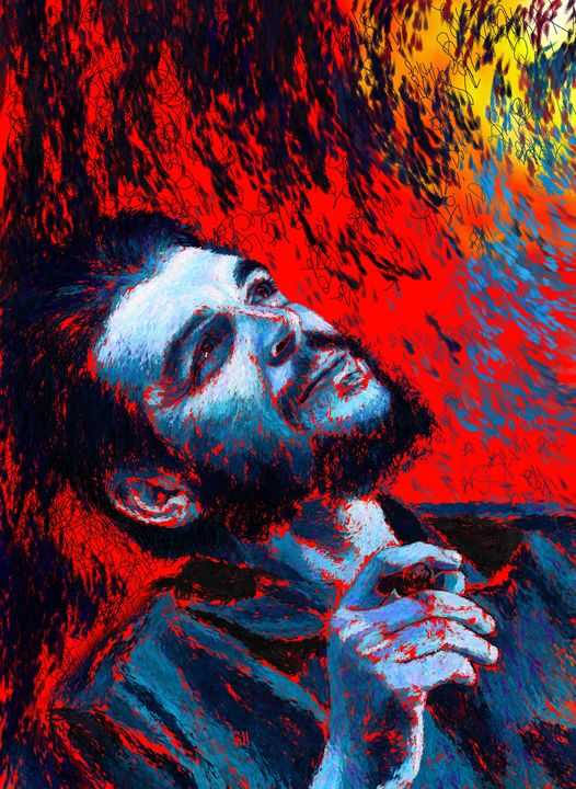 Che Guevara Blue-Red - Shubnum Gill's Art