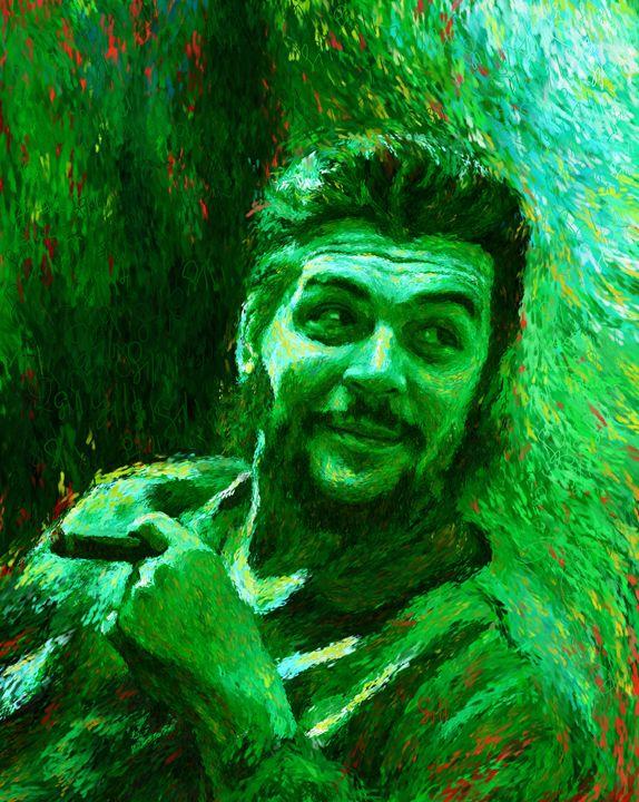 Che Guevara Green - Shubnum Gill's Art