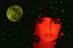 Red Woman Yellow Moon