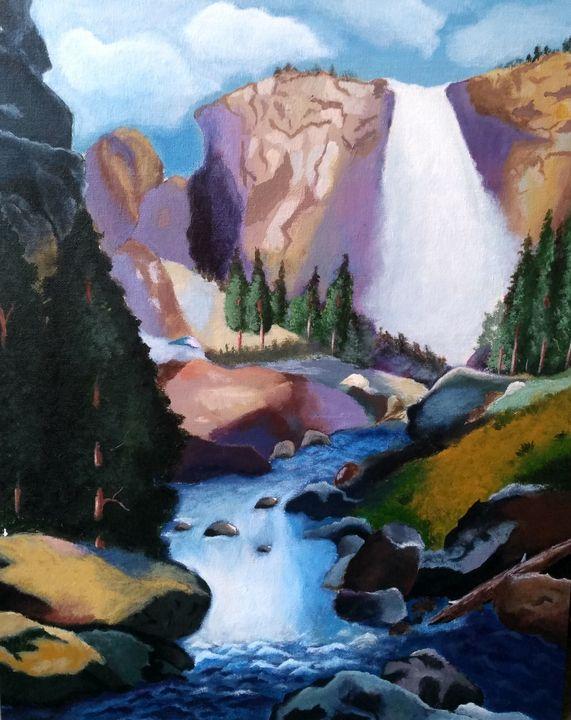 Gorgeous waterfall - Sai paintings