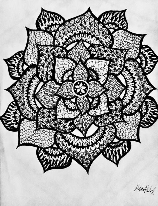 Flower Henna - Mira Patel Art