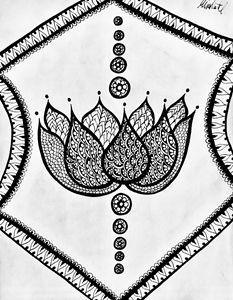 Bordered Lotus - Mira Patel Art