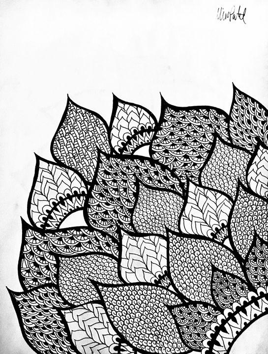 Corner Henna Flower - Mira Patel Art