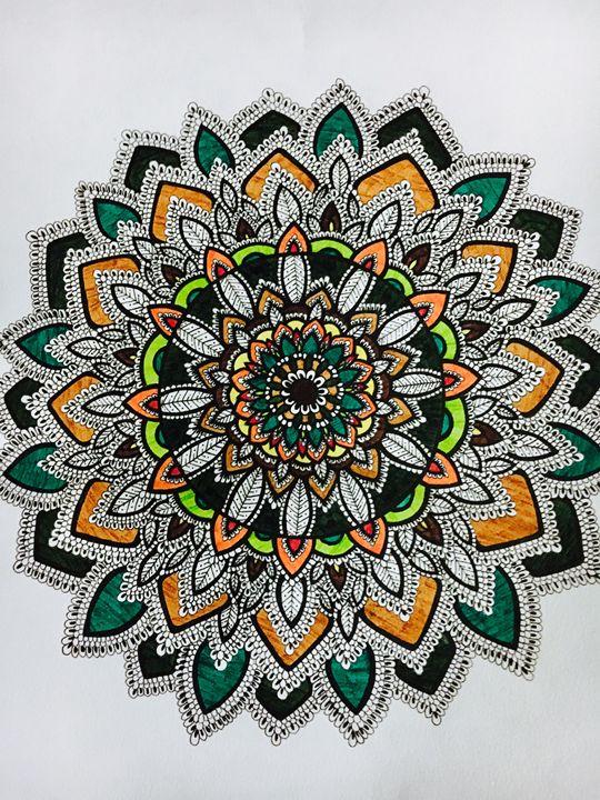 Fall/Autumn Mandala - Mira Patel Art