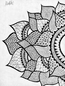 Large Henna Flower