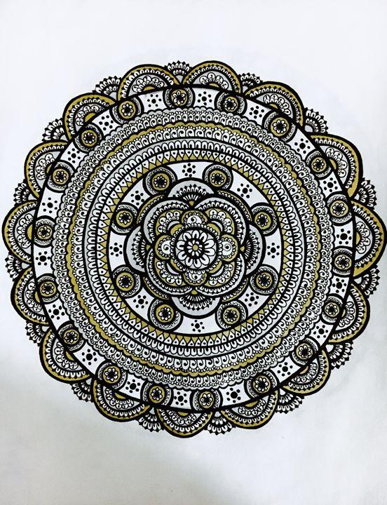 Mandala in Silver & Gold - Mira Patel Art