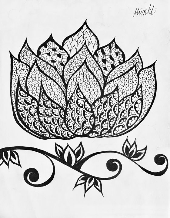 Large Henna Lotus - Mira Patel Art