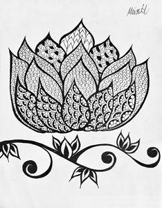 Large Henna Lotus