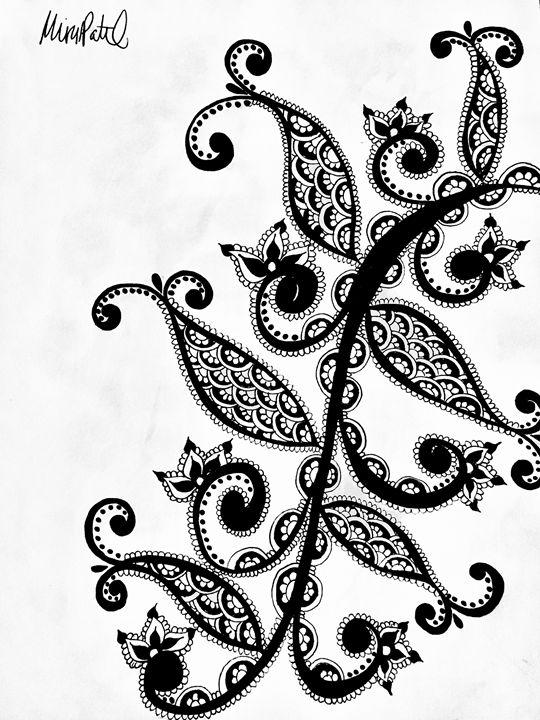Henna Strand Freestyle - Mira Patel Art