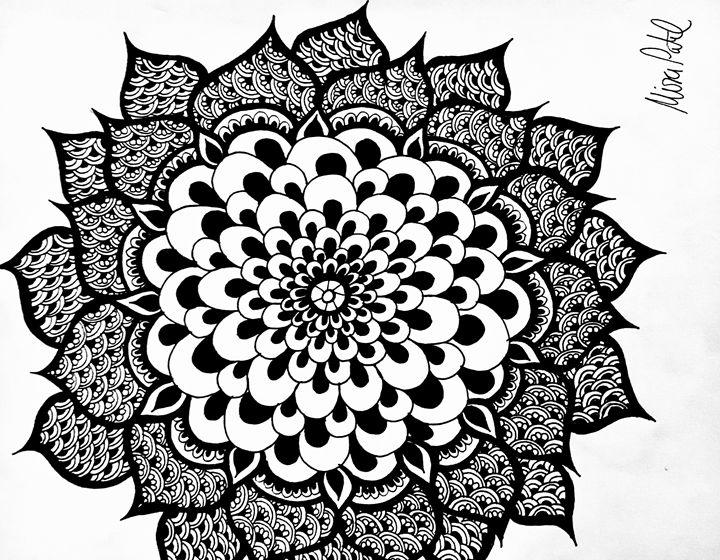 Blooming Henna Flower - Mira Patel Art
