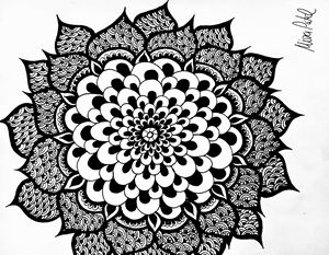 Blooming Henna Flower - Mira Patel Art