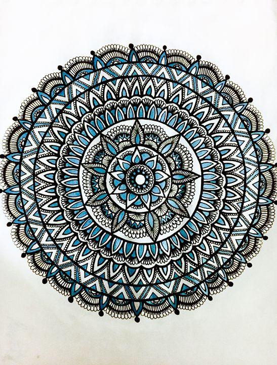 Mandala in Blue and Silver - Mira Patel Art