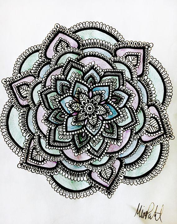 Customized Flower Mandala , Mira Patel Art , Drawings