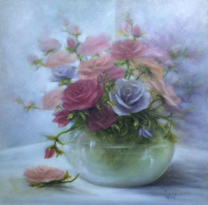 Roses - M. Wood Original Oil Paintings