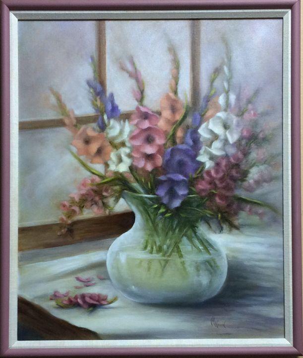 Gladiolas - M. Wood Original Oil Paintings