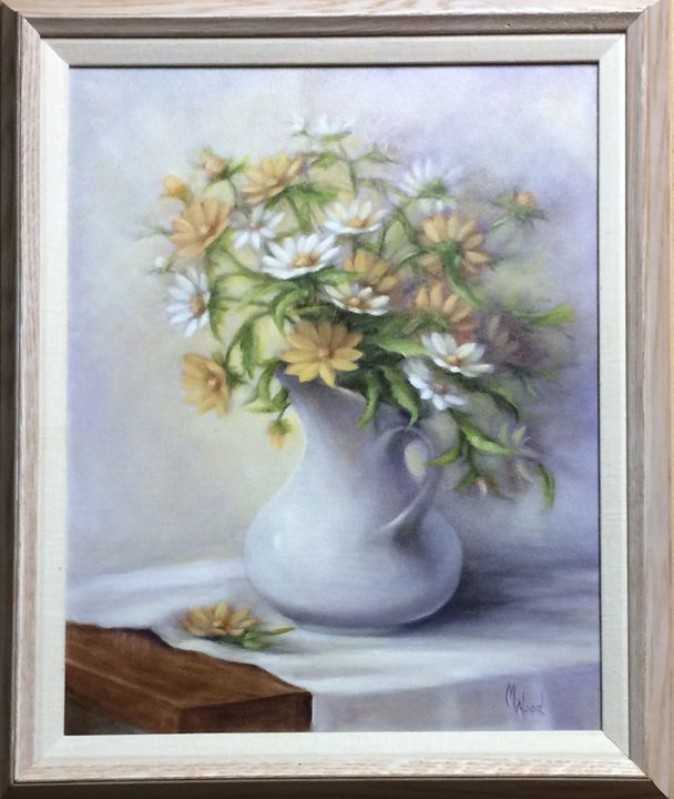 Daisies - M. Wood Original Oil Paintings