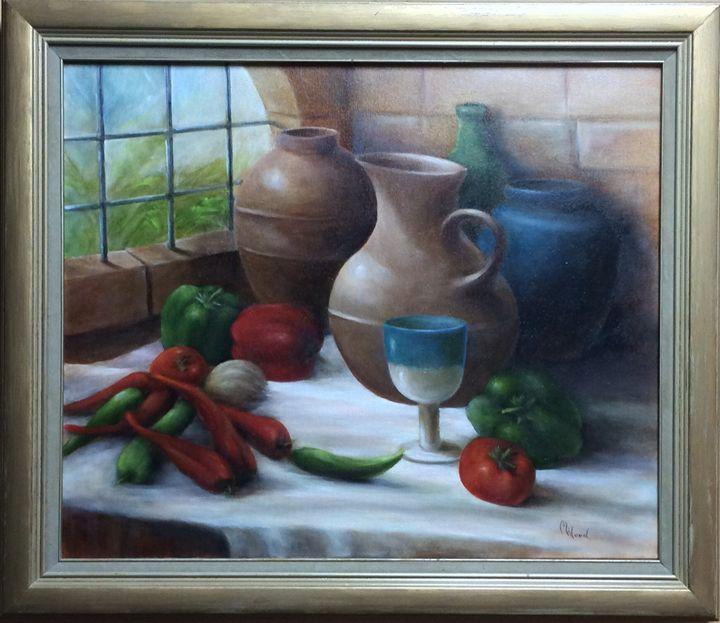 Peppers 'N' Pots - M. Wood Original Oil Paintings