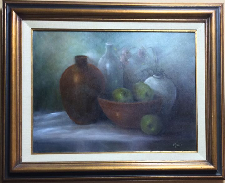 Moody Still Life - M. Wood Original Oil Paintings