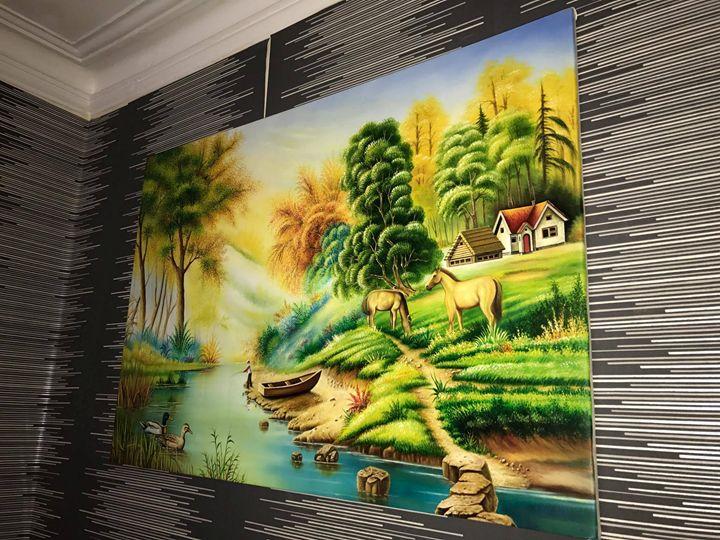 Fantasy Oil On Canvas Hand Drawn - art4life