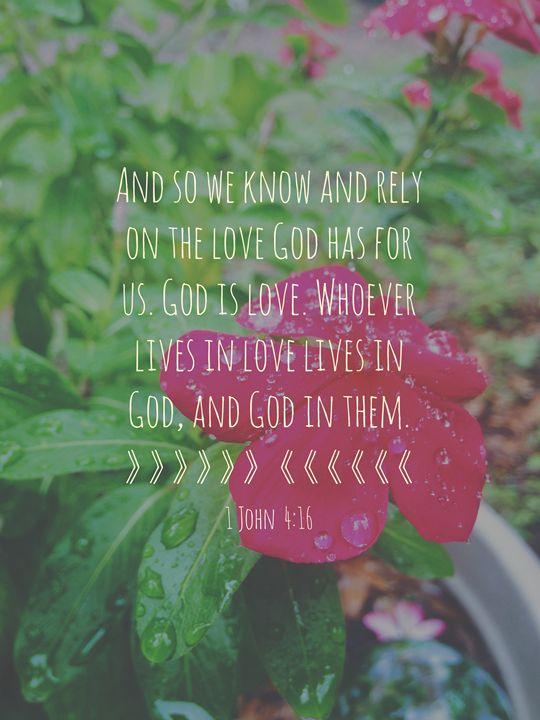1 John 4:16 - FransheyMayumi