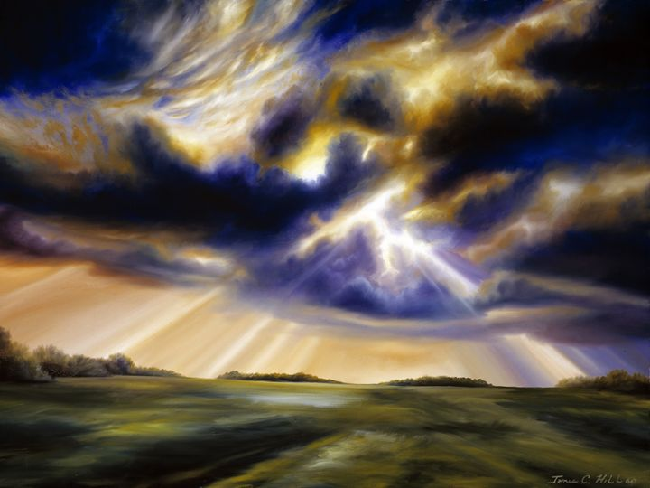 Storm Skies over Iowa - James Hill Gallery
