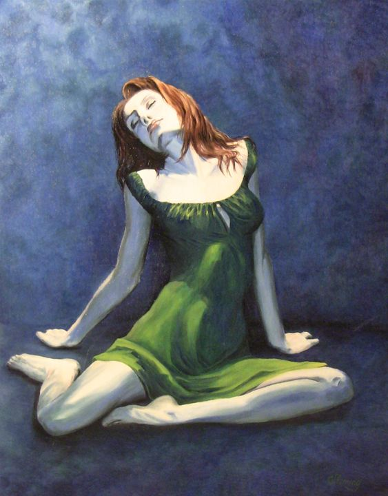 Green dress - Irina Fleming