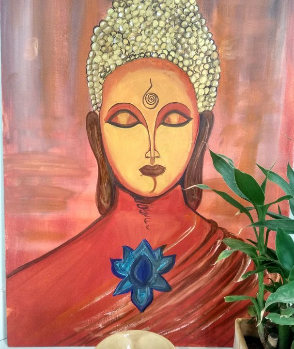 Buddha Wall Painting - Planet Papers