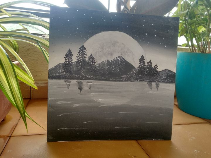 Night Sky Wall Painting - Planet Papers