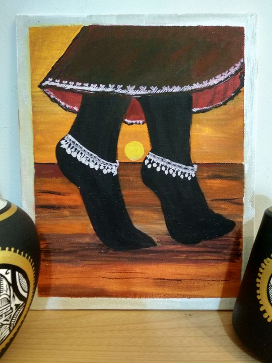 Wall Painting of a dancing feets - Planet Papers