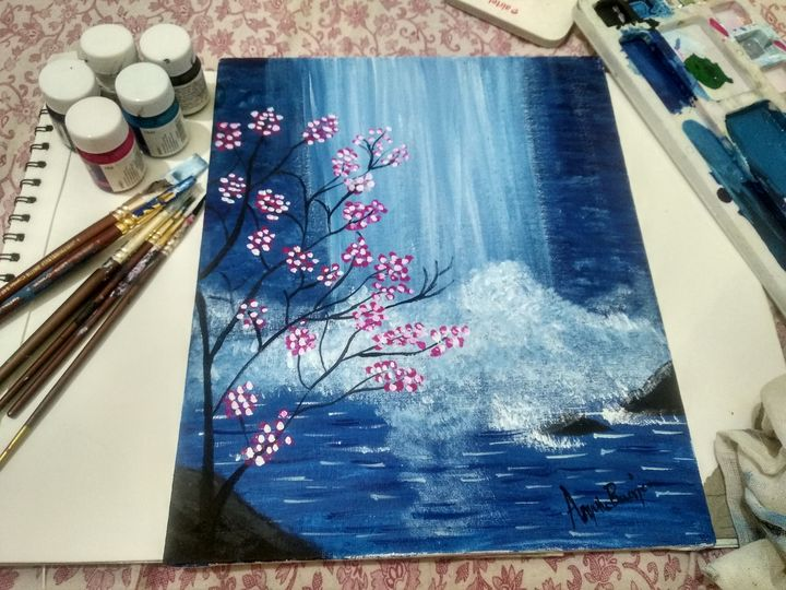 Wall painting of Waterfalls - Planet Papers