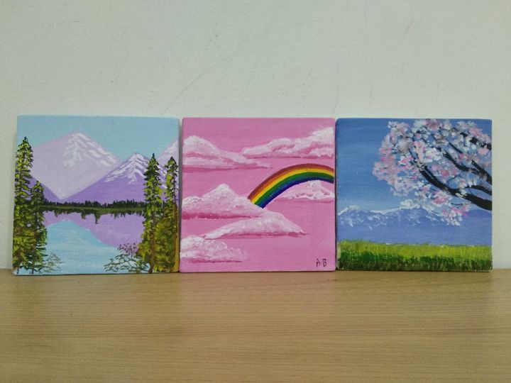 Mini Nature Wall Paintings - Planet Papers