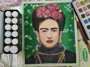 Frida Kahlo Portrait wall painting