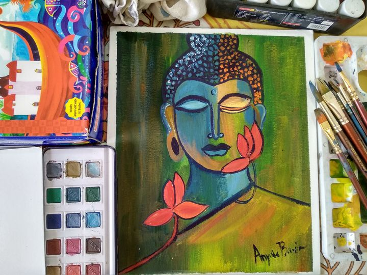Wall Painting of Buddha - Planet Papers