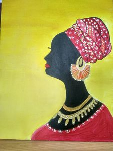 Wall painting of African Woman