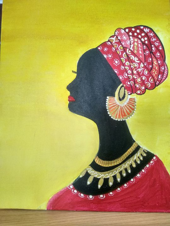 Wall painting of African Woman - Planet Papers