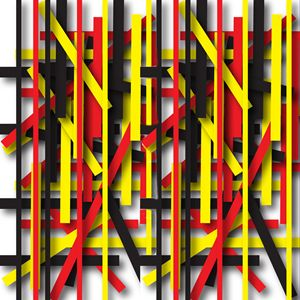 Red, yellow, black lines and shadows