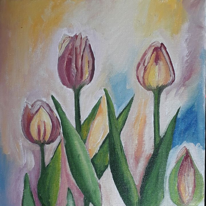 Tulip flowers - Sampresan art