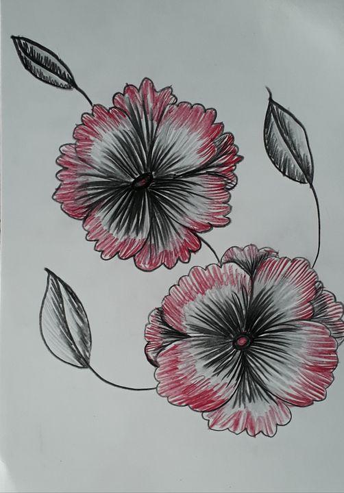 Pink flowers - Sampresan art
