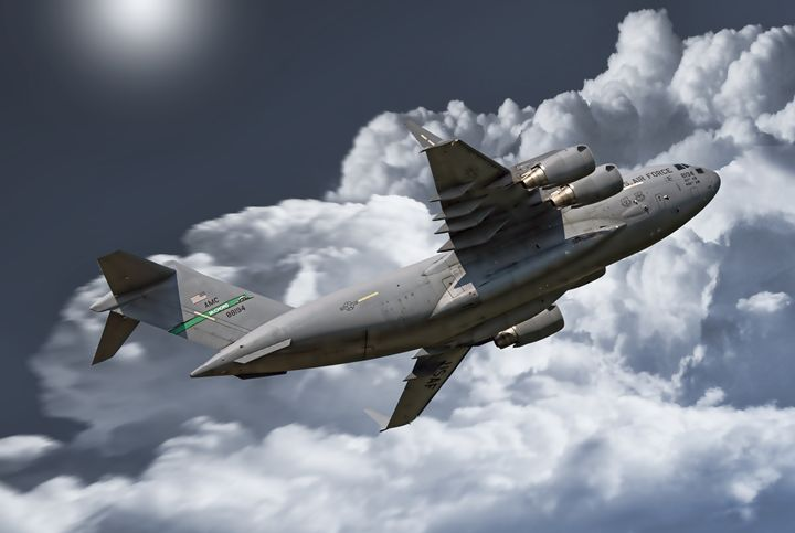 C17 heading for the skies - psdigital art