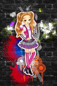 Cute Girl Graffiti