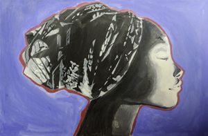 Head wrap african woman
