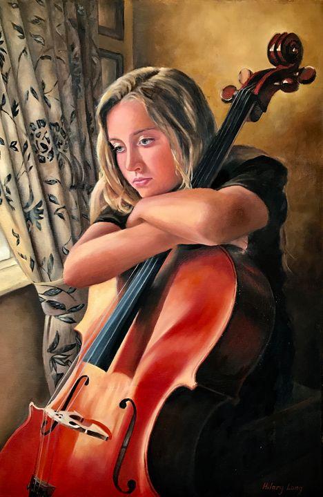 The Pensive Cellist - Hilary Long