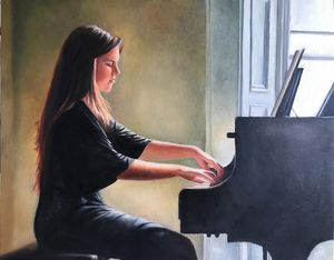 Piano by the window