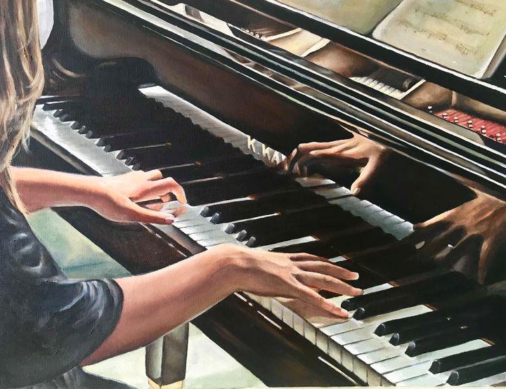 Piano key reflections - Hilary Long