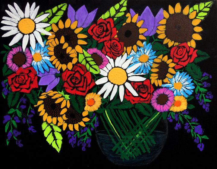 Birthday Bouquet - Art by Pamela